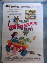 Now You See Him Now You Dont, Movie Poster, Kurt Russell, Cesar Romero, '72